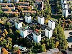 Aerial view of buildings in Stockholm, Sweden