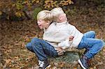 Boys playing together, Karlskrona, Blekinge, Sweden