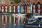 Fishing huts at water