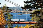 Lorry on bridge