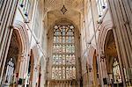 Bath Abbey interior, Bath, UNESCO World Heritage Site, Avon and Somerset, England, United Kingdom, Europe