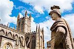 Bath Abbey, Bath, UNESCO World Heritage Site, Avon and Somerset, England, United Kingdom, Europe