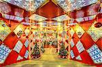 Christmas at Cloud Nine Shopping Mall in Jingan district, Shanghai, China, Asia