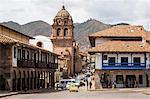 View over Convento y Templo La Merced church, Cuzco, UNESCO World Heritage Site, Peru, South America