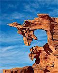 Red sandstone finger, Gold Butte, Nevada, United States of America, North America