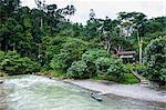 Bohorok River in front of the Bukit Lawang Orang Utan Rehabilitation station, Sumatra, Indonesia, Southeast Asia, Asia