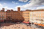 Piazza del Campo, UNESCO World Heritage Site, Siena, Tuscany, Italy, Europe