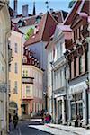 Stree scene in the Old Town, Tallinn, Estonia