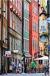 Street scene, Gamla Stan (Old Town) Stockholm, Sweden