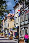 Street scene in Vaxholm near Stockholm, Sweden