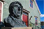 Bust of Roald Amundsen at Polar Museum, Tromso, Norway