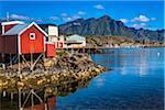Rorbu by Water, Stamsund, Vestvagoy, Lofoten Archipelago, Norway