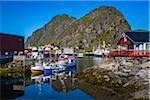 Fishing Boats in Harbour, Stamsund, Vestvagoya, Lofoten Archipelago, Norway