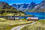 Stromsnes, Flakstad, Flakstadoya, Lofoten Archipelago, Norway