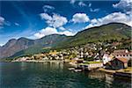 Aurland along Aurlandsfjord, Sognefjord, Sogn og Fjordane, Norway