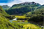 Scenery along Flam Railway, Flam, Aurland, Sogn og Fjordane, Norway