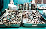 Surgical tools closeup