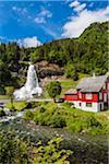 Steinsdalsfossen waterfall, Kvam, Norway