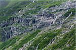 Close-up view of Sorfjorden Fjord, Hordaland, Norway
