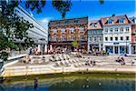 The Canal zone (Aboulevarden), Aarhus, Denmark