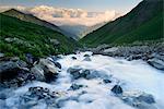 Fresh mountain river, Svaneti, Georgia