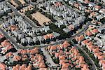 Aerial view of housing estate, Port Melbourne, Melbourne, Victoria, Australia
