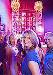 Happy mature people having fun in nightclub