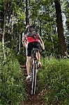 Man mountain biking, Bavaria, Germany