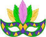 Mardi Gras mask design