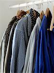 Clothes hanging, close-up