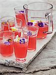 Lemonade with flowers