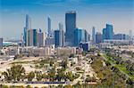 View of city skyline, Abu Dhabi, United Arab Emirates, Middle East