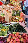 Market scene, Tuscany, Italy, Europe