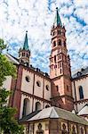 Cathedral of Wurzburg, Wurzburg, Franconia, Bavaria, Germany, Europe