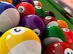 Pool balls, computer artwork.