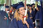 Portrait of university student after graduation ceremony