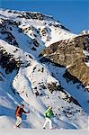Snowshoeing, Galtuer, Tyrol, Austria MR