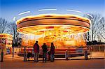Europe, United Kingdom, England, London, carousel near Hampton Court Palace