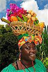 Fruit ladies, Annandale Falls, Saint George, Grenada, Caribbean