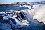 Iceland; Gullfoss. Gullfoss, Iceland's most famous waterfall.