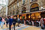 Savini Restaurant, Galleria Vittorio Emanuele II gallery, Milan, Lombardy, Italy