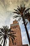 Koutoubia minaret at twilight. Marrakech, Morocco
