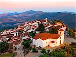 Portugal, Alentejo, Marvao, Medieval village at dusk