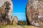 Stone circle, Cromeleque dos Almendres, Evora, Alentejo, Portugal