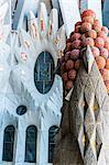 Basilica of Sagrada Familia by architect Antoni Gaudi in Barcelona, Catalonia, Spain.