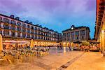Plaza de la Constitucion by night, Donostia San Sebastian, Gipuzkoa, Basque Country, Spain