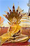 Thailand, Chiang Mai. Buddha statue inside Wat Phra Doi Suthep temple