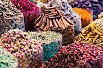 United Arab Emirates, Dubai. Spices for sale at the souk