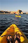 Kayaking, Lake Powell, Glen Canyon, Arizona, USA, MR
