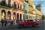 Colonial Houses along Paseo de Marti opposite Capitolio, Havana, Cuba